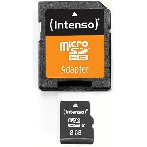 Intenso 3403460 - Tarjeta de memoria micro SD de 8 GB con adaptador SD (Clase 4)