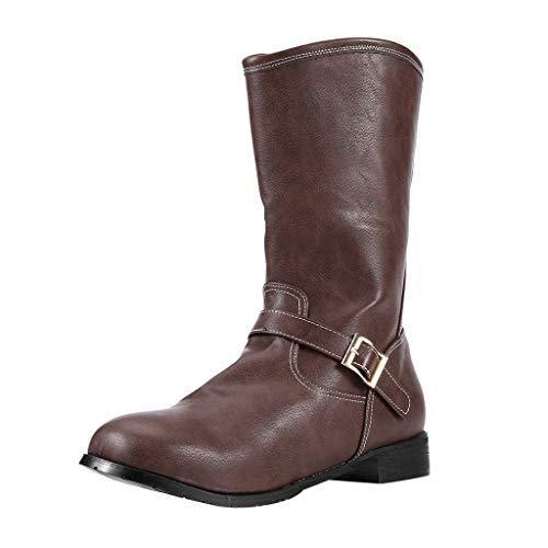 Herren große englische Schnalle lässige Stiefel mit niedrigem Absatz kurze Stiefel