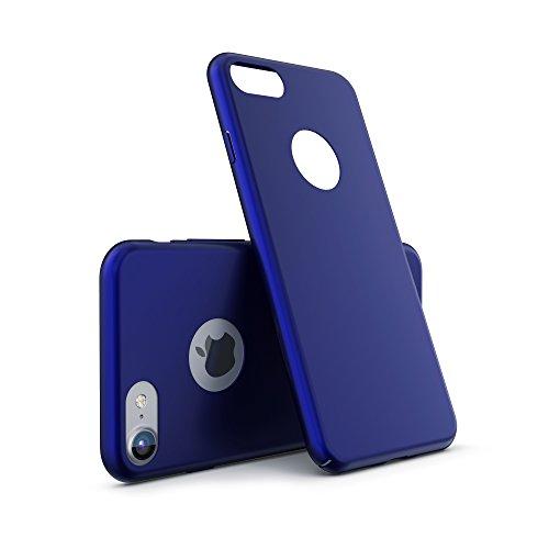 URCOVER® Ultra-Slim Hard Case Housse Protection   Apple iPhone 7 Plus   Plastique in Noir   Coque Mince Anti-choc Léger Étui Bumper Sac Armor Cover Élegant Bleu