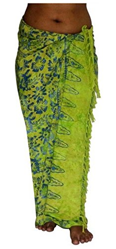 ca.100 Modelle im Shop Sarong Strandtuch Pareo Wickelrock Loop grün blau Sar16
