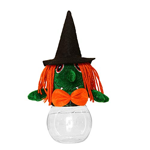 Halloween Candy Bowl Kürbis Hexe Fledermäuse Ghost Demon Crystal Candy Dish Kunststoff Zuckerdose Cookie Jar BPA frei Halloween Süßes oder Saures Goody Container Spooky Holiday Party Favors Holiday Candy Dish
