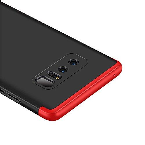 Coque Samsung Galaxy Note 8 étui ,Qissy® 3 en 1 Bumper Tout inclus Ultra Mince Spécialement Design PC protective Hard case Cover Pour Galaxy Note 8 6.3 (2017) Smartphone Rouge