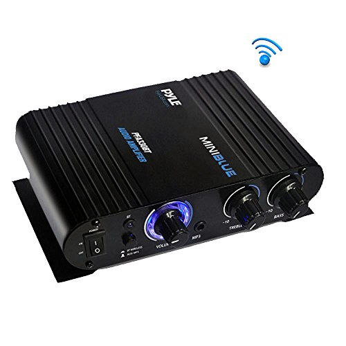 Pyle PFA330BT - 90 Watt Bluetooth Wireless Streaming Stereo Mini Power Amplifier - Microphone, RCA and 3.5mm Aux Inputs  available at amazon for Rs.2551