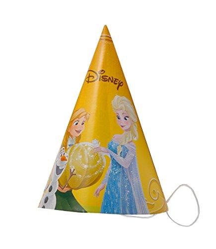 6Partyhütchen Konus Papier Disney Frozen Halloween, Orange ()