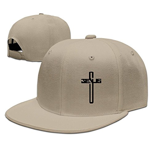 dbb0213a1 TTHDK-OON Casual Men Women Christian Jesus Cross Flat Ajustable Snapback  Cap Forestgreen
