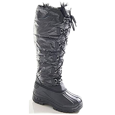 Ladies Long Waterproof Sole Stable Yard Snow Mucker Boots Size