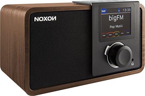 NOXON dRadio 1 Radio mit Akku (DAB+ und UKW-Empfang, Journaline, EWF, Farbdisplay) Walnuss/Schwarz