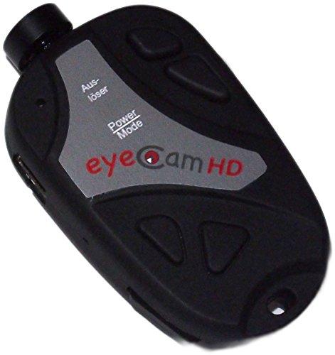 ORIGINAL eyeCam HD 720p Kamera mit 120 Grad Weitwinkelobjektiv Spy Cam 808. Kamera Mini DVR DV, Autoschlüssel, Spionage Camcorder Mini, Sound Foto und Videofunktion, eyeCam eye cam mit pratischem Overlay, mehrfach in Fachzeitschriften (Aviator, MFI) gestestet worden!