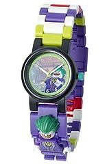 Idea Regalo - Orologio da polso componibile LEGO 8020851 Batman Movie per bambini con minifigure Joker   viola/verde   plastica   diametro quadrante: 28 mm   analogico al quarzo   bambino/bambina   ufficiale