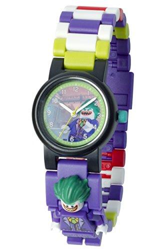 Preisvergleich Produktbild LEGO Batman Movie 8020851 Joker Kinder-Armbanduhr mit Minifigur und Gliederarmband zum Zusammenbauen,violett/grün,Kunststoff,Gehäusedurchmesser 25mm,analoge Quarzuhr,Junge/Mädchen,offiziell