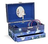 Jewelkeeper - Scatola Musicale per i Gioielli con Ballerina: da Bambina, con cassetto Estraibile, Design Glitterato - Melodia dell'Lago dei Cigni