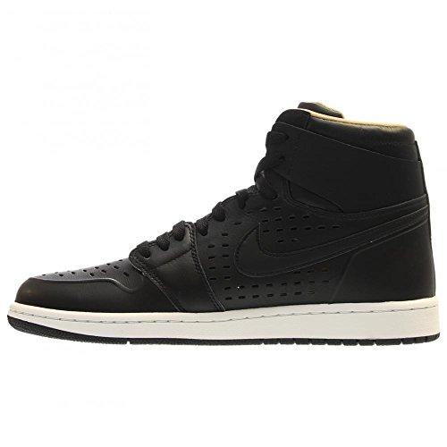Jordan Air Jordan 1 Retro High Cuir Baskets Black-Black-White-Vachetta Tan