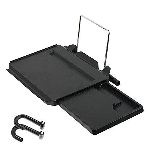 e-jiaen Auto Laptop Schreibtisch Multi-Funktionalität tragbar Faltbare Auto Tablett mit iPad Slot, Lenkrad Schreibtisch & Autositz Zurück Laptop Tisch  Ernährung und Unterhaltung Becherhalter (2017Version) (Slot Tabelle)