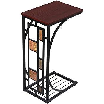 Yaheetech Table d\'appoint à Café Snack Bout de Canapé 21 x 30,5 x 53 cm  Table Basse Vintage Petite Desserte pour Salon Jardin Terrasse