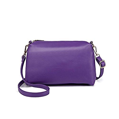 Miss Lulu , Damen Schultertasche 1435-2 Purple