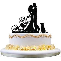 Sombra Mr & Mrs abrazados con perro