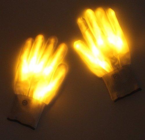 guanti laser Lychee Guanti LED Cotton Finger Luminosi Guanti con 6 modalità di Brillanti