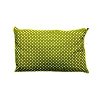 Soft Polycotton Pillow By Valentini Green Queen size 50 X 75 cm