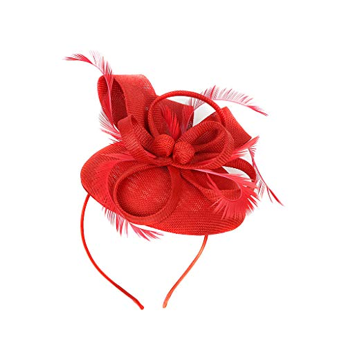 Fascinator Kopfschmuck Damen Hut Hanfgarn Stirnband Elegant Braut Hair Clip Accessoires Vintage Palast Royal Ascot Flapper Great Gatsby Haarband Pearl Charleston Tea Party Cocktail Braut