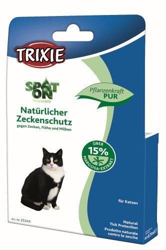Trixie Spot-On Natürl. Zeckenschutz, Katze, 4 × 0,75 ml