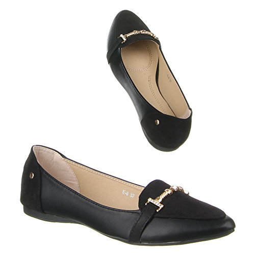 Damen Schuhe, E-8, BALLERINAS Schwarz