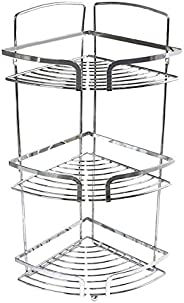 In-house 2724330000000 Corner Shower Rack, Stainless Steel, Silver, W 50.4 x H 21.0 x L 20.0 cm