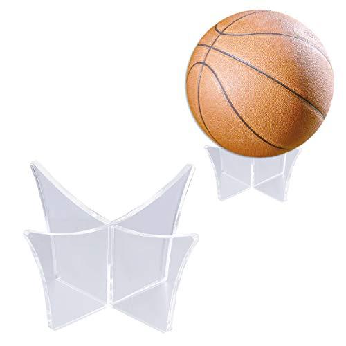 Vosarea Kugelständer Ausstellungsstand Transparente Display Halter Unterstützung Basis für Fußball Basketball Fußball Volleyball - (Transparent)