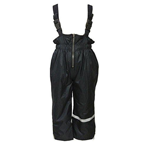 Outburst - Jungen Regenhose mit Latz und Fleece Wasserundurchlässig Matschhose, dunkelblau - 7485980, Größe 140
