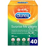 Durex Surprise Me - Preservativos Mixtos - 40 unidades