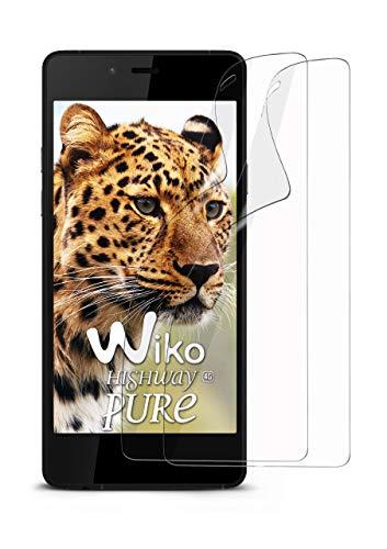 moex 2X Wiko Highway Pure   Schutzfolie Klar Bildschirm Schutz [Crystal-Clear] Screen Protector Display Handy-Folie Dünn Bildschirmschutz-Folie für Wiko Highway Pure Bildschirmfolie