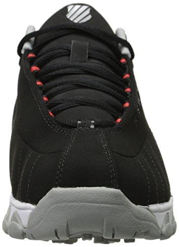 K-Swiss Mono Cuir Baskets Black/Fiery Red/Highrise