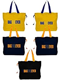 Blendmix Bagforever Shopping Bag Reusable Grocery Bag Foldable Polyster Tote Long Handle Washable Large Size Heavy... - B07GCJHBCL