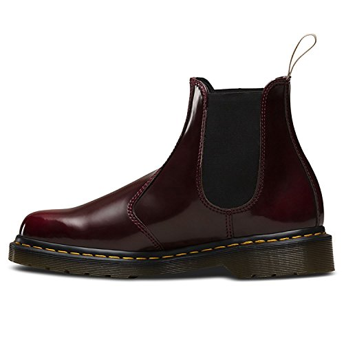Dr. Martens Unisex-Erwachsene 2976 Vegan Chelsea Boots Kirsche