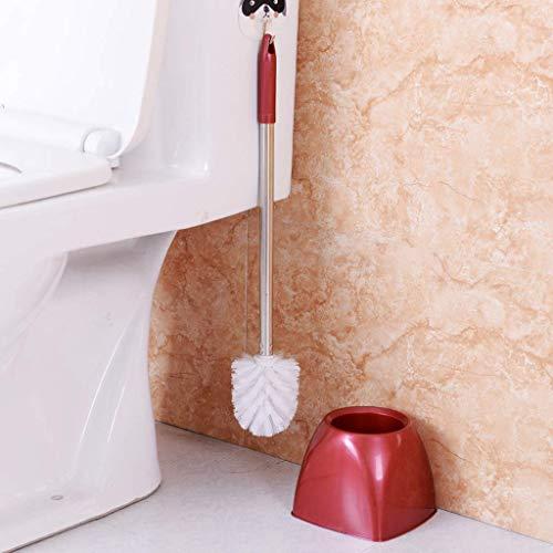 Bobopai Toilet Brush, Stainless Steel Long Handle Wash Toilet Brush Cleaning Brush with Base (C) -
