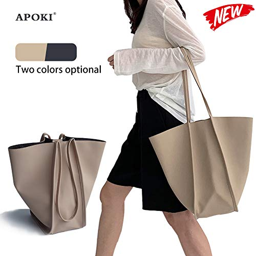 Women's Shopping Bag,Pu Handbags,2019,Large Shoulder Bag,Hobo Bags,Laptop And Shopping Bag Made Of Pu Leather With Extra Long Handles And Inner Zip Pocket,18 x 16.5 x 32 Cm -