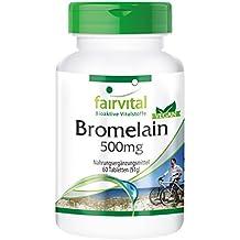 Bromelina 500 mg - para 2 meses - VEGANO - Alta dosificación - 60 comprimidos -