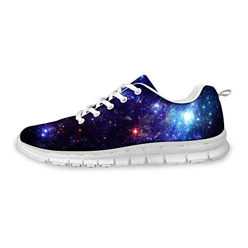 MODEGA Galaxie-Druck-Schuhe bunt schillernde Schuhe Schelm Schuhe Männer Frauen Bowlingschuhe 8,5 Elegante Schuhe für Jungen Schelm Herren Schuhe für Jungen kühlen Betrieb Größe 43 EU|8.5 UK -