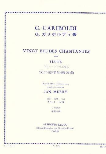 20 ETUDES CHANTANTES OP88 FLUTE par GARIBOLDI