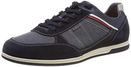 Geox Herren U Renan B Sneaker, Blau (Navy C4064), 43 EU