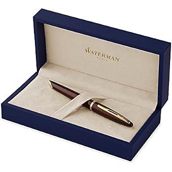 Waterman Carene Amber Lacquer Gold Trim Medium Nib Fountain Pen ...
