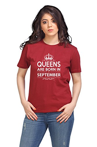 Hashtag Birthday Gifting Queen T-shirt for Women - Medium (40) size