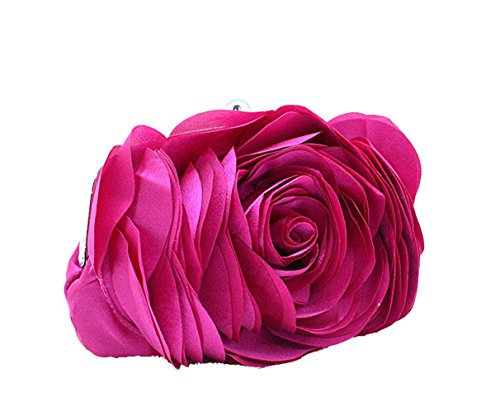 Aronvivi , Damen Clutch schwarz schwarz Einheitsgröße rosarot