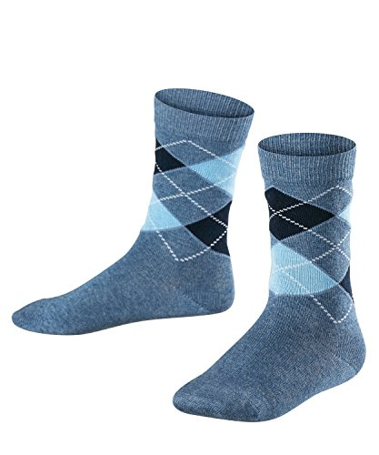 FALKE Classic Argyle Kinder Socken light denim (6660) 31-34 mit verstärkten Belastungszonen