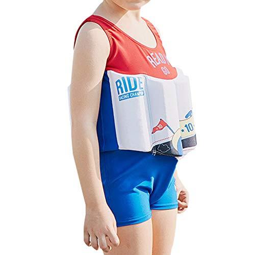Boys Schwimmender Badeanzug - Baby Kinder One Piece Auftrieb Badeanzug Strand Kostüm Kinder Schwimmen Sleeveless Float Anzüge Badeanzüge Training
