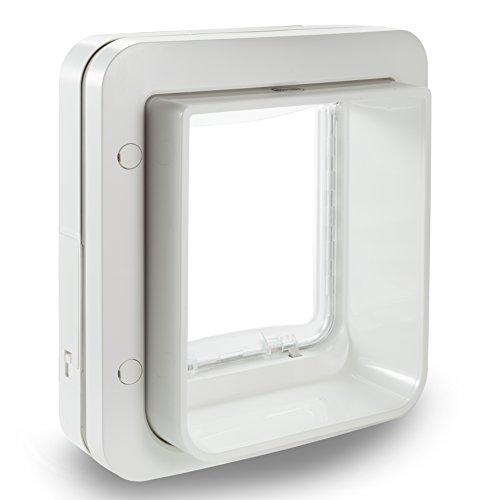 lll sureflap mikrochip haustierklappe mit zeitschaltuhr power pfoten. Black Bedroom Furniture Sets. Home Design Ideas