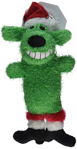 Von Multipet 's Santa Loofa Plüsch Hundespielzeug, DASS quietscht, Grün