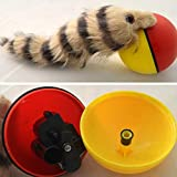 Sarplle Baby Bath Toy Electronic Toy Weasel Plush Dog Cat Toy Pet Rolling Jump Ball Funny Beaver Toy