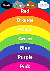 Learn Colours Rainbow Childrens Wall Chart Educational Childs Poster Art Print WallChart