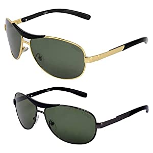 Criba Italian Design Combo Glass UV400 Protected Aviator Sunglass