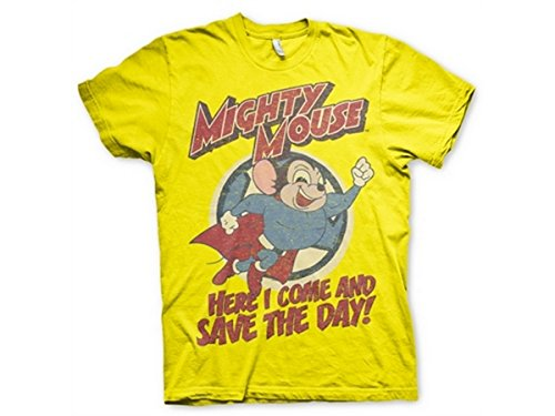 Official Mighty Mouse Save The Day T-Shirt - S to 3XL